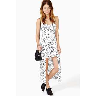 BN Nastygal Huntingbird Moondance High Low Dress
