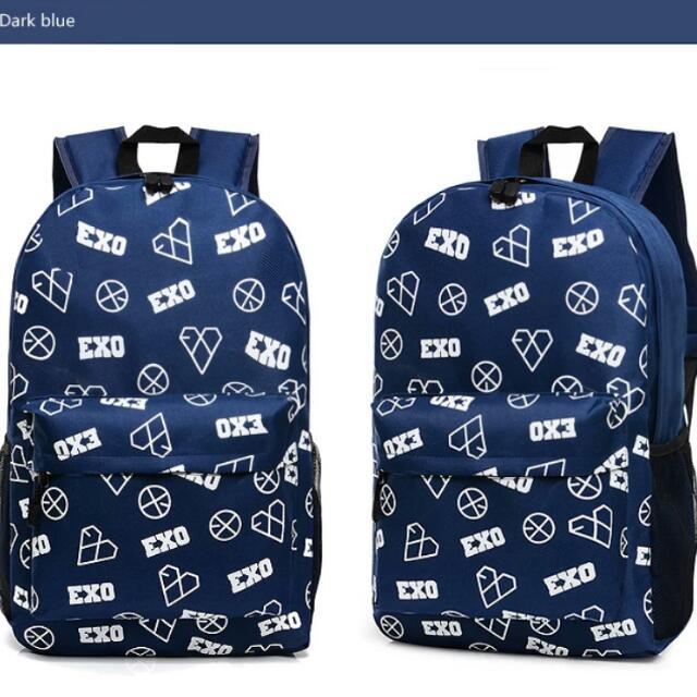 0b111d754a EXO Heart   Kiss Logo Backpack