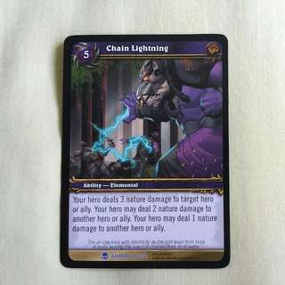 WoW TCG HEROES OF AZEROTH Expansion 2006, Chain Lightning, 106/361