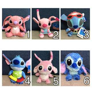 BUY 3 GET 1 FREE!! Lilo And Stitch Soft Toys