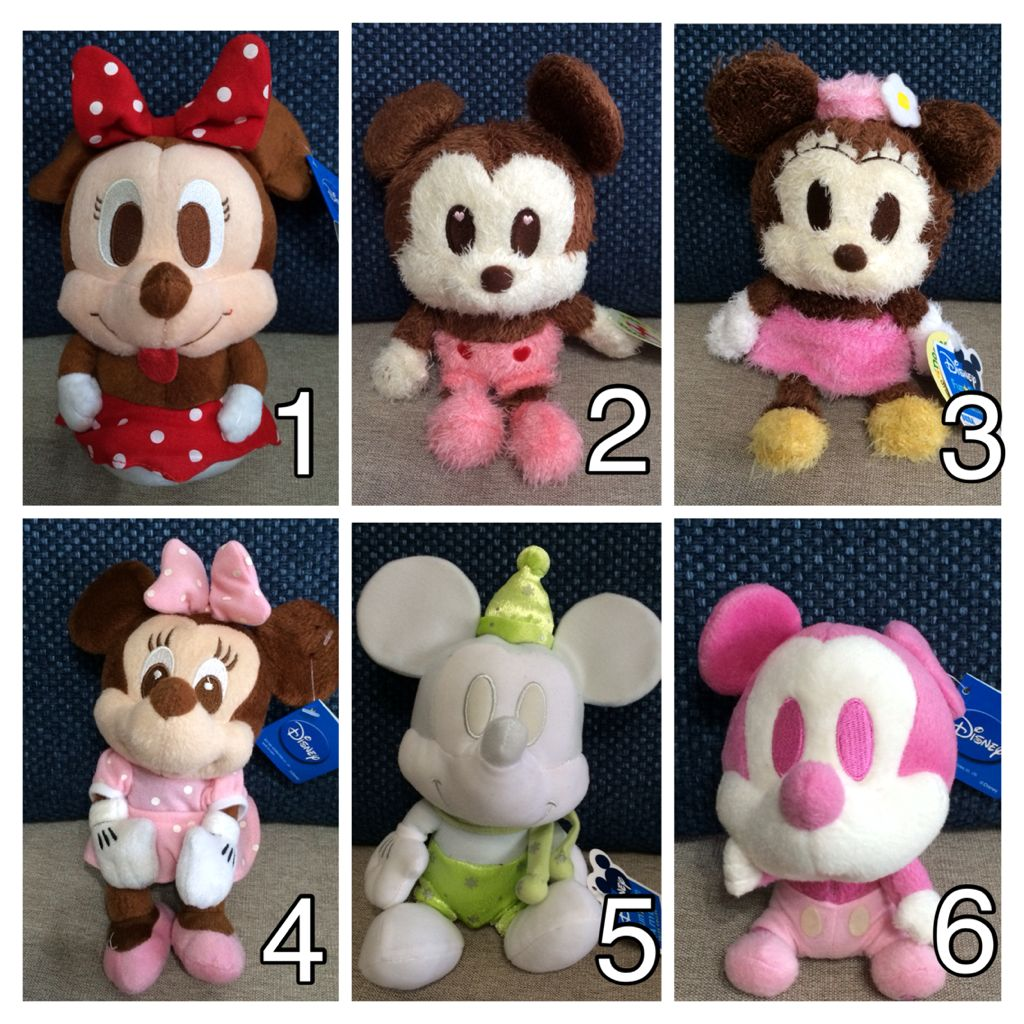 BUY 3 GET 1 FREE!! Mickey & Minnie Mouse Soft Toys