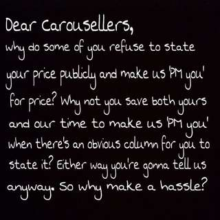 To all Carousellers,