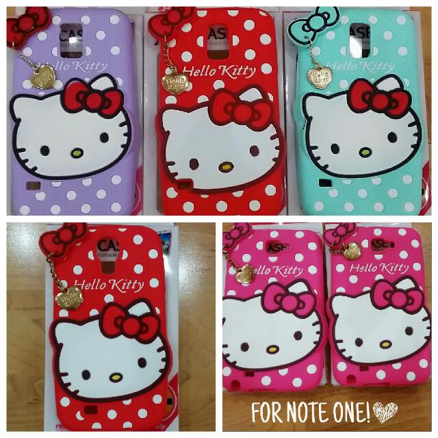 buy popular 86d02 fede6 INSTOCK HELLO KITTY CASES FOR S4, S5, NOTE 1