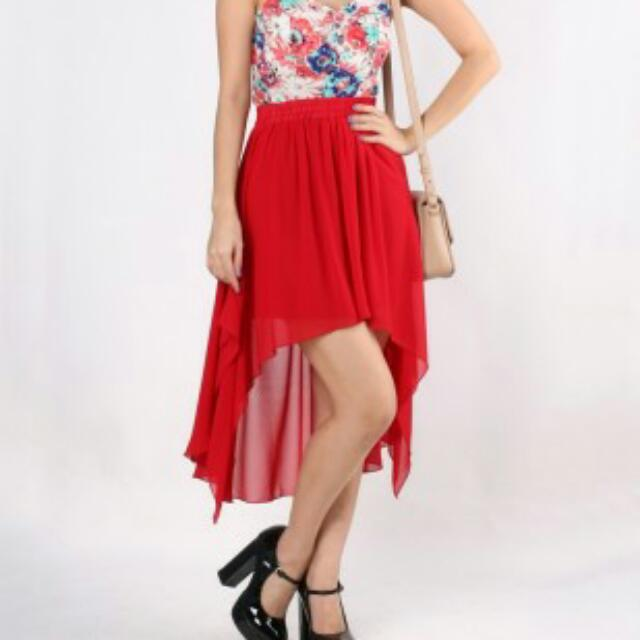 Swinging Mullet Skirt In Coral Women S Fashion On Carousell
