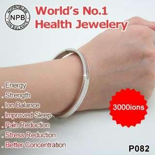 Anti-radiation Anti-fatigue Stylish Health Bracelet With Swarvoski Crystal