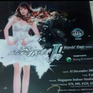 <repost> Jolin Tsai Authentic Autographed Poster (Laminated)
