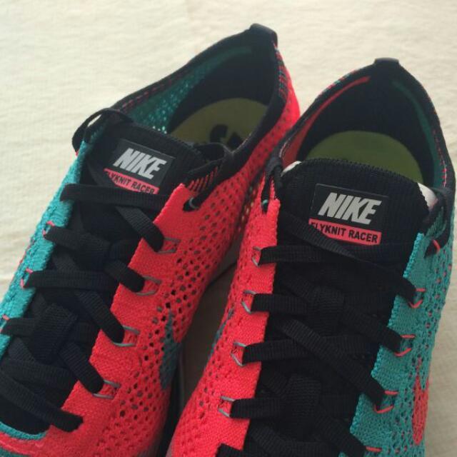 6ee221ae3f3b7  Authentic  Nike Flyknit Racer Hyper Jade