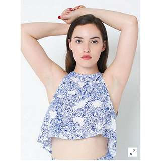 "American Apparel ""Floral Print Lulu Crop Top"""