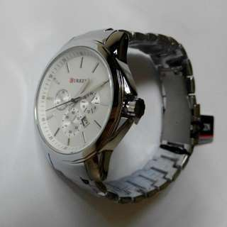CURREN.  Men's  Stainless Steel Analog Watch.