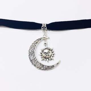 Crescent Moon Sun Choker