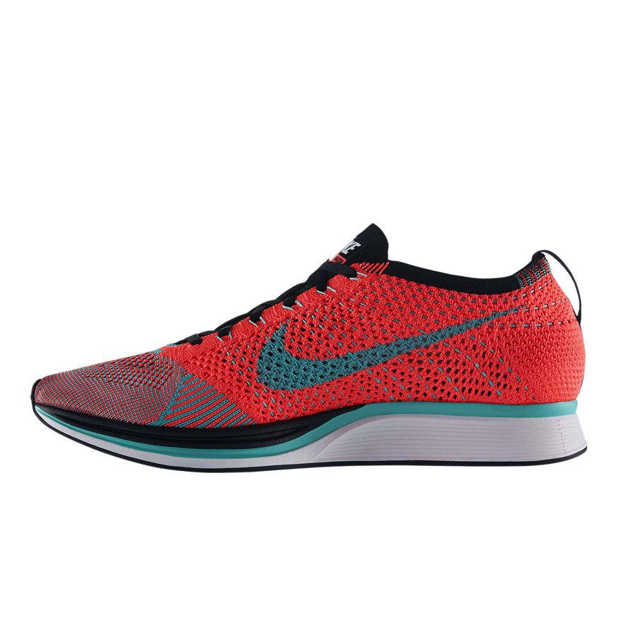 3c031d14efa74 Authentic Nike Flyknit Racer Hyper Jade Black
