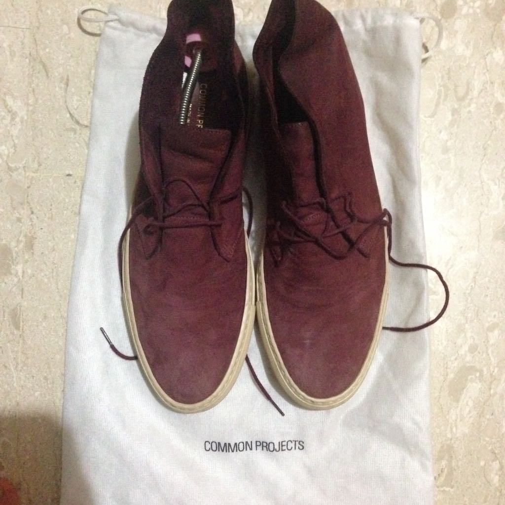 Common Projects Red Chukka Boots