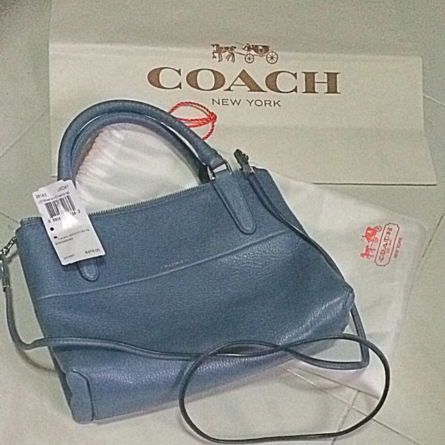 8467452625a6 Brand New COACH The mini Brough Bag Pebbled Leather