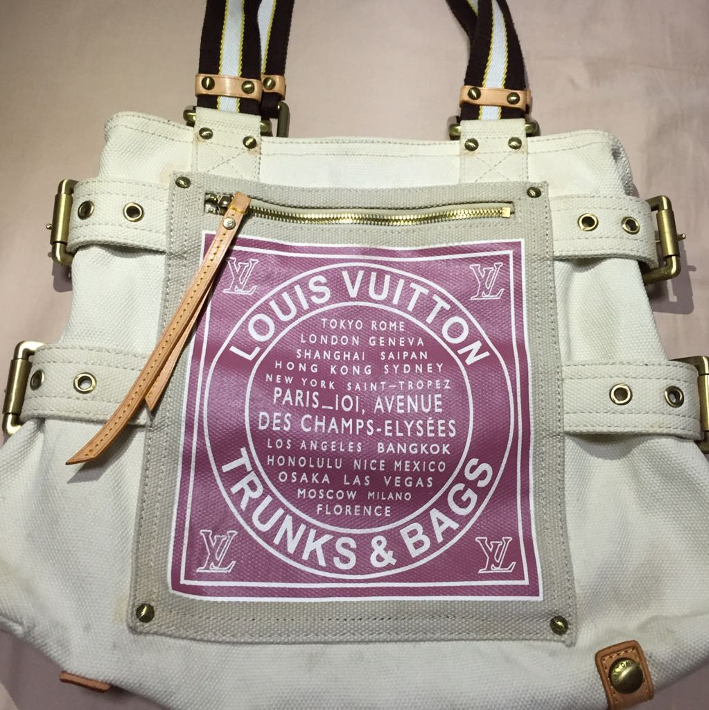 a290ed355588 Reserved ) Limited Edition Louis Vuitton Toile Globe Shoppers Cabas ...