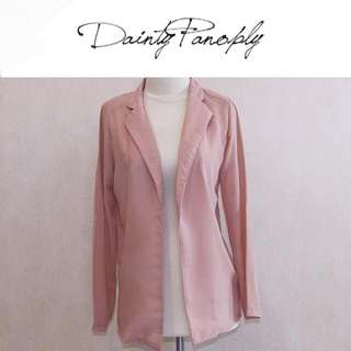 Outer clear chiffon in brown