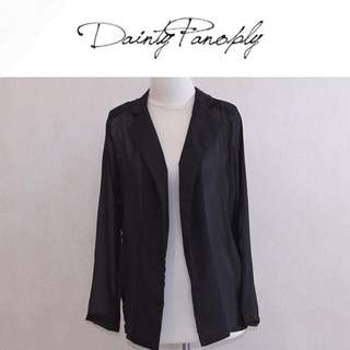 Outer clear chiffon in black