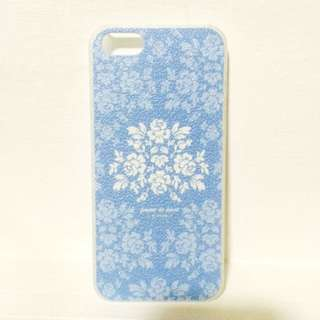 Blue Floral Iphone 5/5s Hard Casing