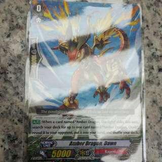 Card fight Vanguard, Amber Dragon Combos