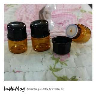 1ml amber-glass bottle for essential oils
