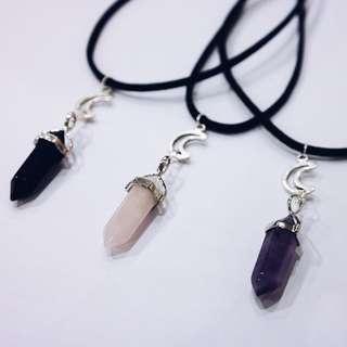 Moon/Quartz Standard Necklace