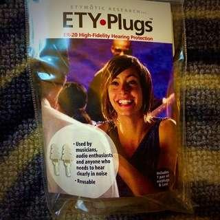 Etymotic ER20 Ety Plugs High Fidelity Ear Plugs