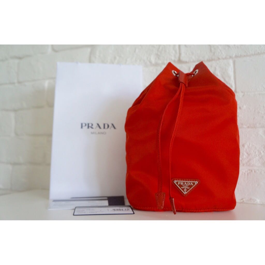 01e9869fbd01aa Brand New Authentic Prada Vela Drawstring Pouch, Luxury on Carousell