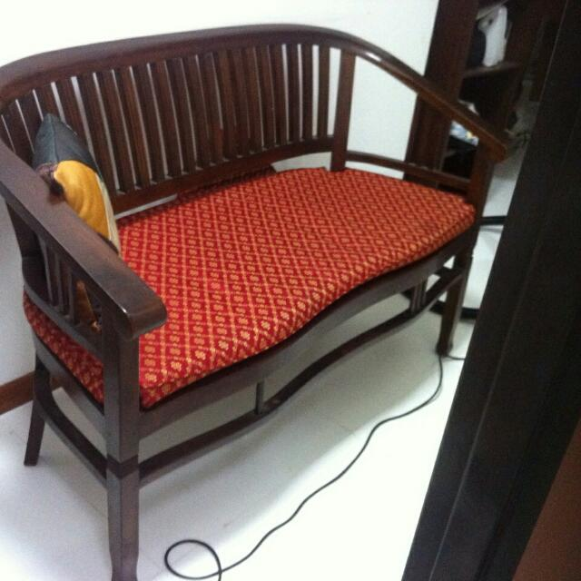 Vintage Chinese Wooden Sofa Set Furniture On Carousell