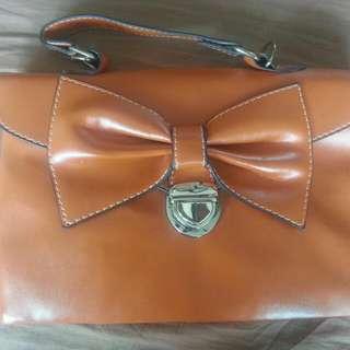 Orange Ribbon Shoulder/Handcarry Handbag