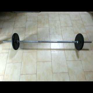 1.2m Barbell + 2x 5kg Weight Plate