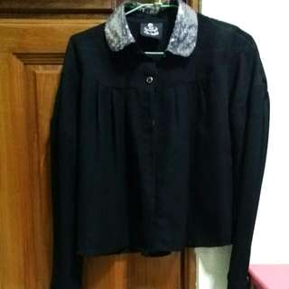 Black Long-sleeved Chiffon