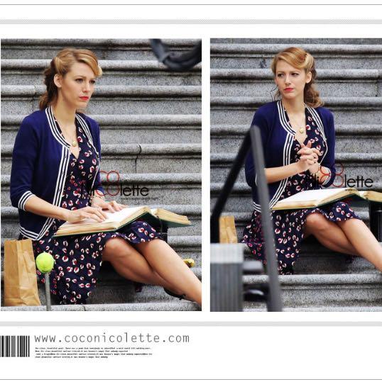 bf1e116d7ce Blake Lively Inspired Beach Ball Print Silk Pleated Dress, Women's Fashion  on Carousell