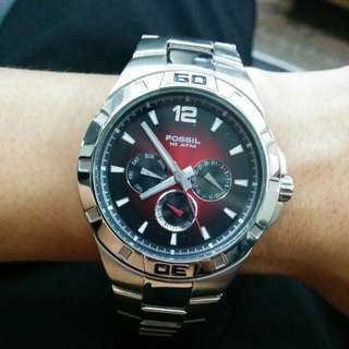 Fossil 10 ATM stainless steel watch