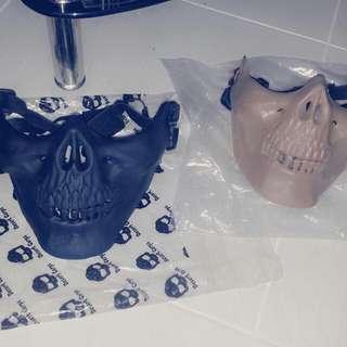 BNIP Half-faced Mask (Black Sold, Left Beige)