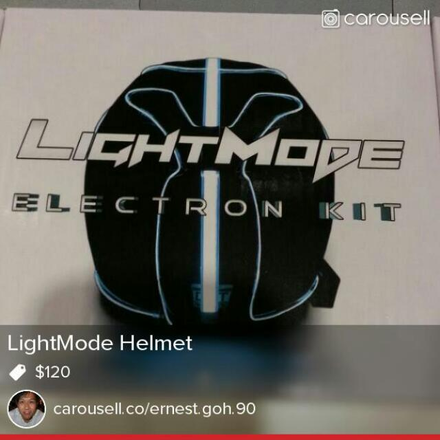 motorcycle light mode helmet car accessories on carousell