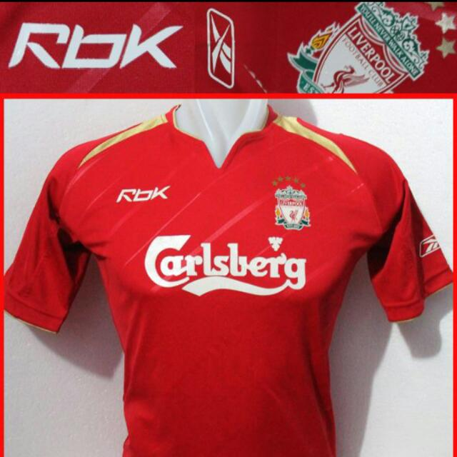 check out f1549 59a50 Liverpool Reebok Champions League 05/06 Jersey (With ...