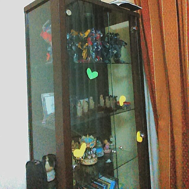 Teak Wood And Glass Cabinet