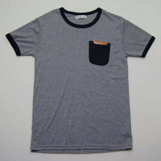 Grey T-Shirt with pocket (from Korea)