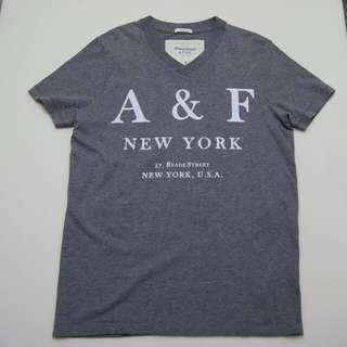 Authentic A&F / Abercrombie & Fitch Grey T-shirt