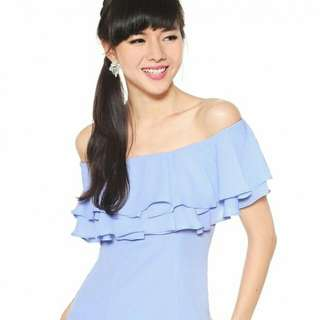Love Bonito Tarilyn Top (Baby Blue) Size XL