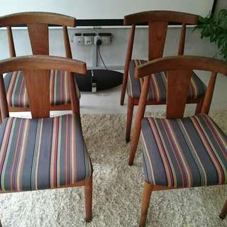Wooden Chairs With Paul Smith Upholstery