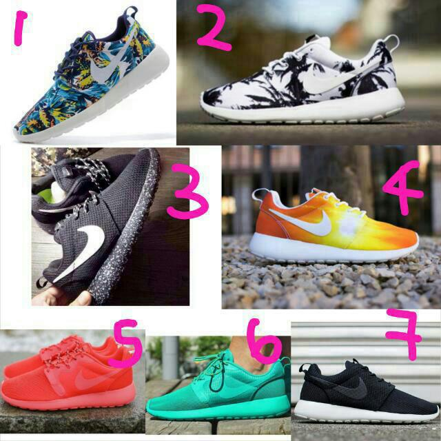 ceaf4eeab4e6f PO  🙆 Authentic Nike ROSHE RUN! BLUE PINK BLACK PATTERNED ...