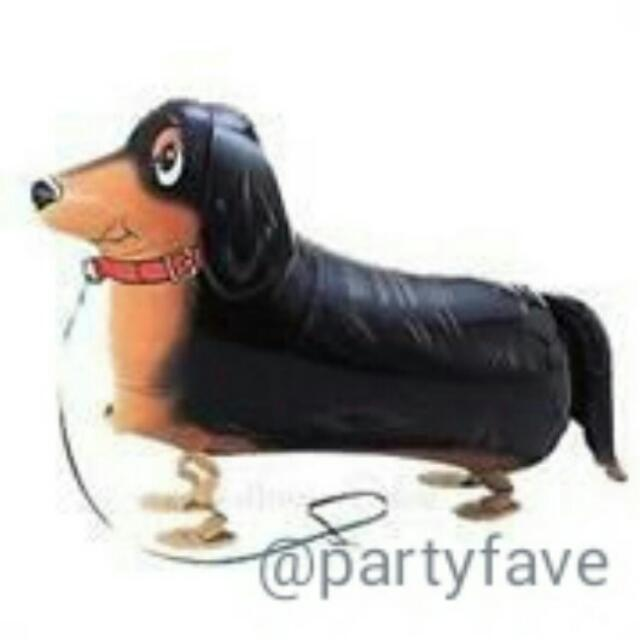 Black Dog Walking Pet Balloon - Airwalk Balloon