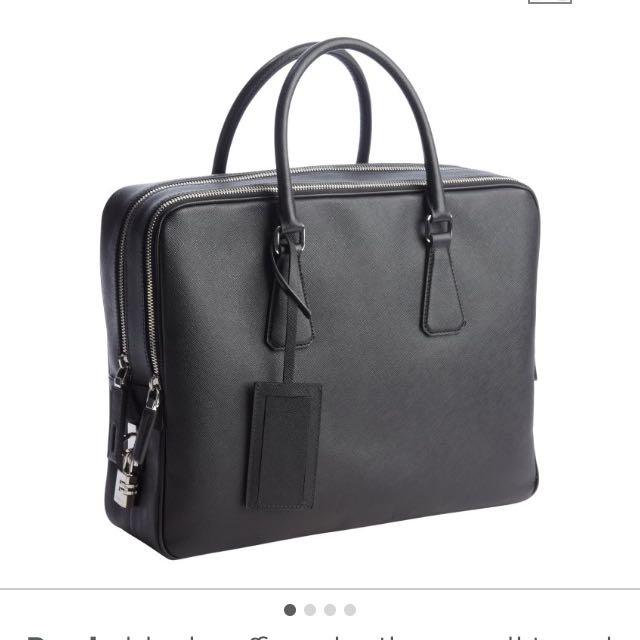 13d86e5b19a869 Prada Saffiano Bag - Document Or Travel Bag, Luxury on Carousell