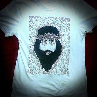 "Limited Edition Hand Printed Designer T-shirt Entitled ""The Trip Of Jesus"""