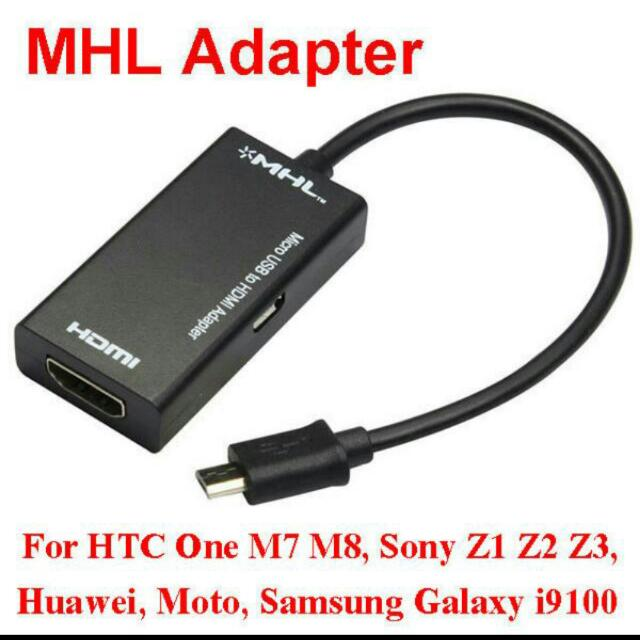 New High Quality 1080P MHL Micro USB to HDMI HDTV Video Cable Adapter for Galaxy S2 i9100 i9220 HTC One M7 M8 Sony Xperia Z1 Z2 Z3 Z Ultra LTE Mobile Phone, ...