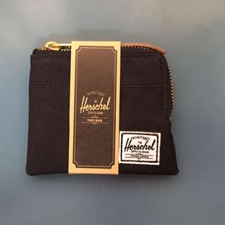 Herschel Johnny Zip Wallet (Black)