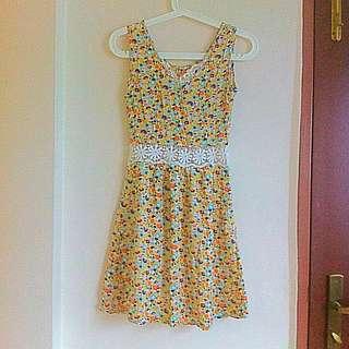PENDING | Floral Lace Cutout Dress