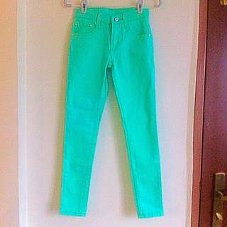 PENDING | Turquoise Skinny Jeans