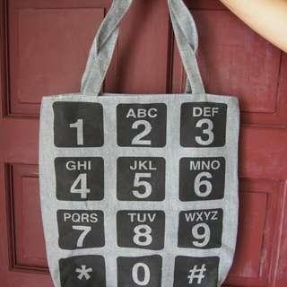 Number Tote Bag