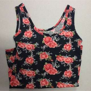 Rose Printed Tank Top